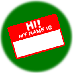 Name Badge challenge badge